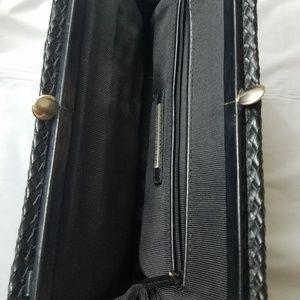 Elliott Lucca Bags - Elliott Lucca woven black leather clutch